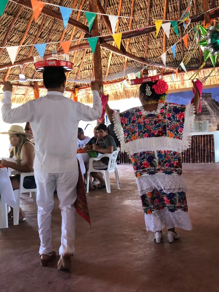 Traditional Mayan dance performance